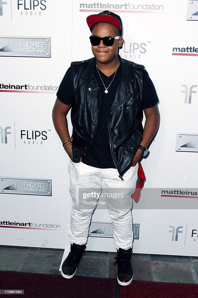 Actor Kyle Massey arrives at the Matt Leinart Foundation's 7th Annual 'Celebrity Bowl' at Lucky Strikes on July 18, 2013 in Hollywood, California.