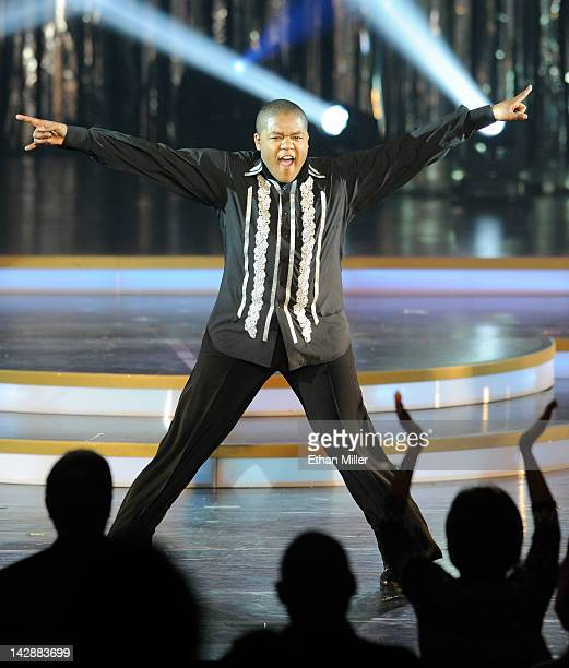 Actor Kyle Massey performs during the grand opening of Dancing With the Stars Live in Las Vegas at the New Tropicana Las Vegas April 13 2012 in Las...
