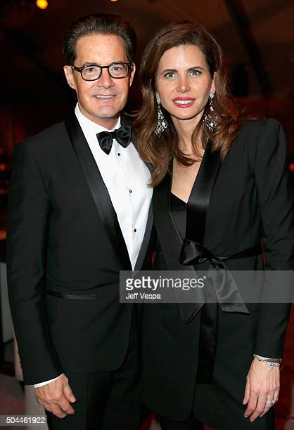 Actor Kyle McLachlan and producer Desiree Gruber attend The Weinstein Company and Netflix Golden Globe Party presented with DeLeon Tequila Laura...