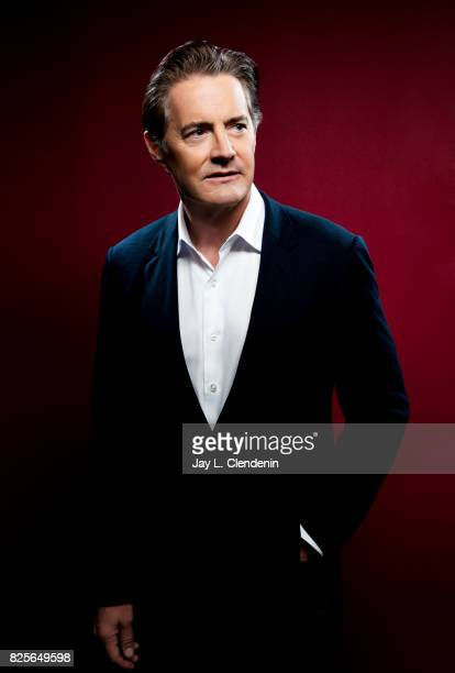 """Actor Kyle McLaughlin, from the television series """"Twin Peaks,"""" is photographed in the L.A. Times photo studio at Comic-Con 2017, in San Diego, CA on..."""
