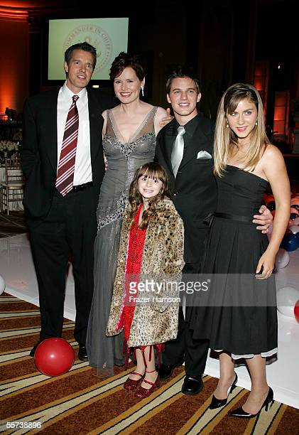 Actor Kyle Secor actress Geena Davis actor Matt Lanter actress Caitlin Wachs and actress Jasmine Anthony attend the inaugural ball and premiere of...