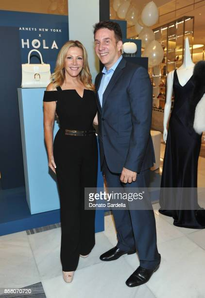 Actor Kym Douglas and HOLA Chair Committee John Livesay attend a Cocktail Event in support of HOLA Heart of Los Angeles hosted by Barneys New York at...
