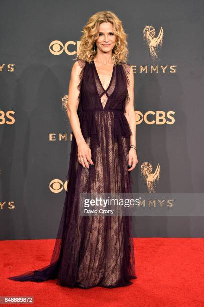 Actor Kyra Sedgwick poses in the press room during the 69th Annual Primetime Emmy Awards at Microsoft Theater on September 17 2017 in Los Angeles...