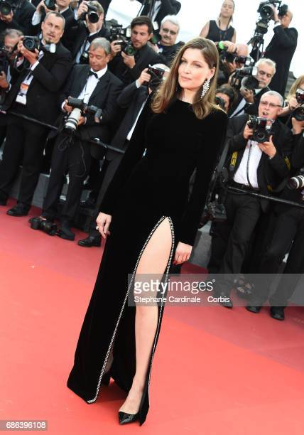 Actor Laetitia Casta attends The Meyerowitz Stories premiere during the 70th annual Cannes Film Festival at Palais des Festivals on May 21 2017 in...