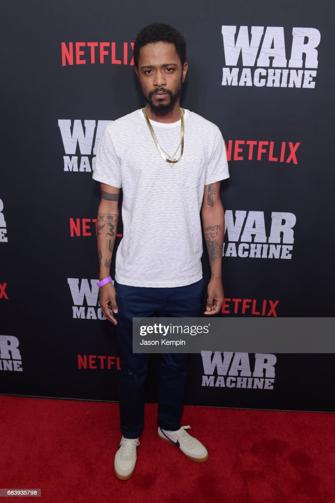 Actor Lakeith Stanfield attends a special screening of the Netflix original film 'War Machine' at The Metrograph on May 16, 2017 in New York City.