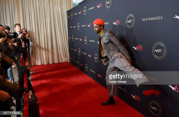 Actor Lakeith Stanfield attends the 19th Annual AFI Awards at Four Seasons Hotel Los Angeles at Beverly Hills on January 4 2019 in Los Angeles...