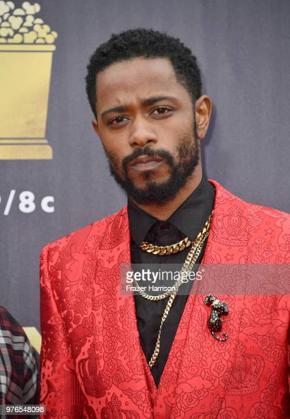 Actor Lakeith Stanfield attends the 2018 MTV Movie And TV Awards at Barker Hangar on June 16 2018 in Santa Monica California