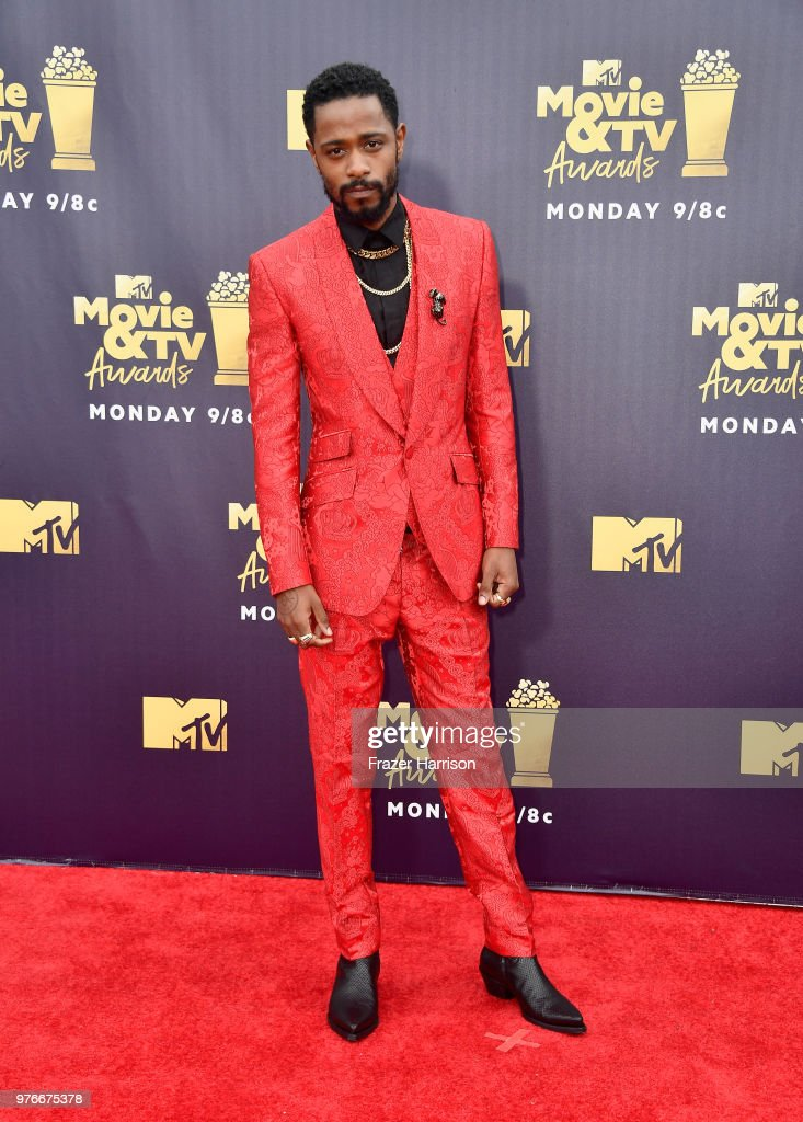 Actor Lakeith Stanfield attends the 2018 MTV Movie And TV Awards at Barker Hangar on June 16, 2018 in Santa Monica, California.