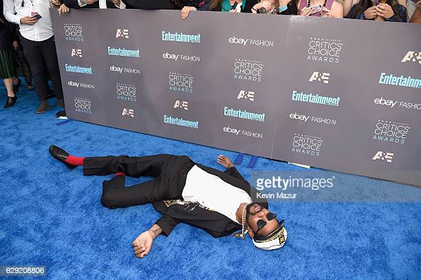Actor Lakeith Stanfield attends The 22nd Annual Critics' Choice Awards at Barker Hangar on December 11 2016 in Santa Monica California