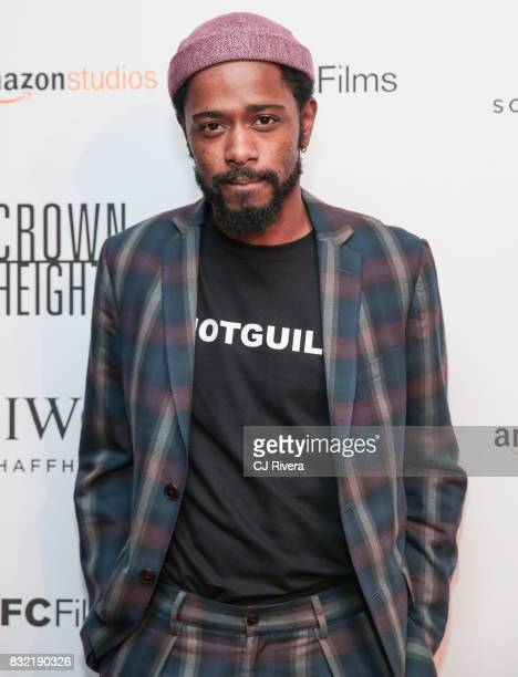 Actor Lakeith Stanfield attends the New York premiere of 'Crown Heights' at The Metrograph on August 15 2017 in New York City