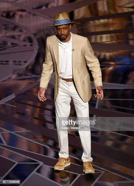 Actor Lakeith Stanfield speaks onstage during the 90th Annual Academy Awards at the Dolby Theatre at Hollywood Highland Center on March 4 2018 in...
