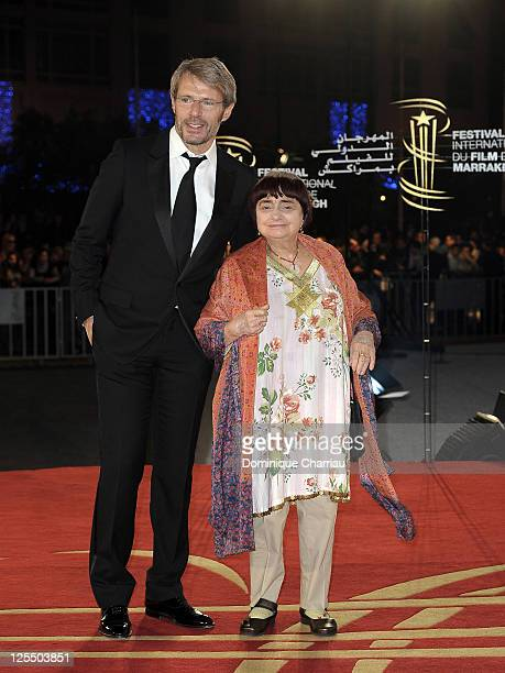 Actor Lambert Wilson and Director Agnes Varda attend the Tribute to the French Cinema during the 10 th Marrakech Film Festival on December 4, 2010 in...