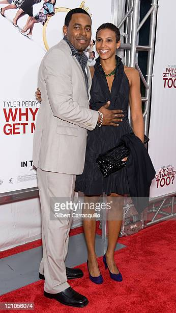 Actor Lamman Rucker and guest attend the special screening of 'Why Did I Get Married Too' at the School of Visual Arts Theater on March 22 2010 in...