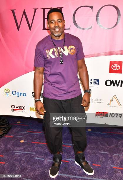 Actor Lamman Rucker attends 2018 Black Women's Expo at Georgia International Convention Center on August 12 2018 in College Park Georgia