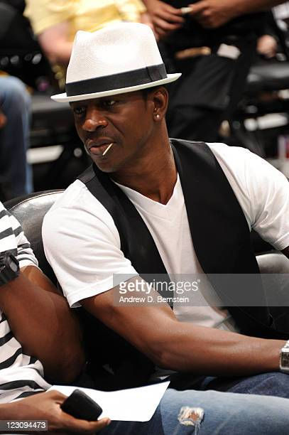 Actor Lamman Rucker attends a game between the Seattle Storm and the Los Angeles Sparks at Staples Center on August 30 2011 in Los Angeles California...