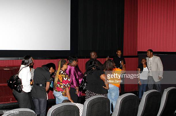 """Actor Lamman Rucker takes pictures with fans after the premiere screening of """"N-Secure"""" at Atlantic Station on September 30, 2010 in Atlanta, Georgia."""