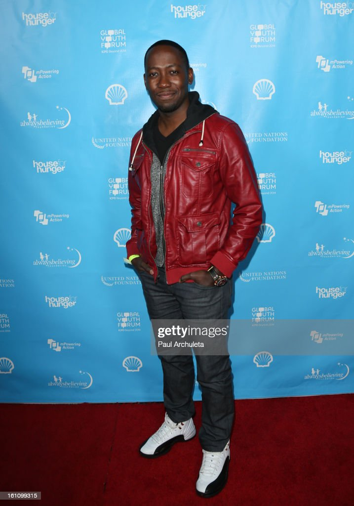 Actor Lamorne Morris attends the 'mPowering Action' platform launch at The Conga Room at L.A. Live on February 8, 2013 in Los Angeles, California.