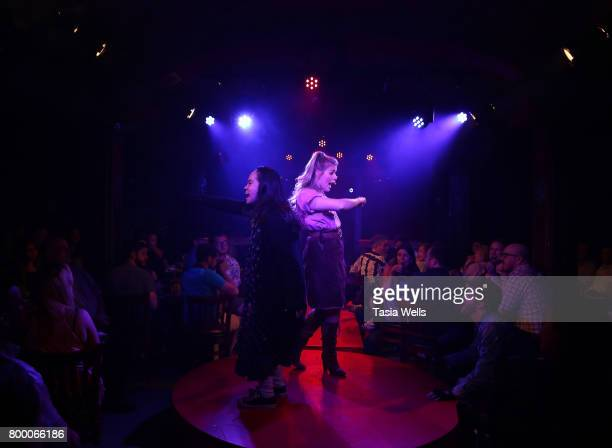 Actor Lana McKissack and Anna Grace Barlow perform at The Fuse Project's Presentation of The Last Breakfast Club at Rockwell Table Stage on June 22...