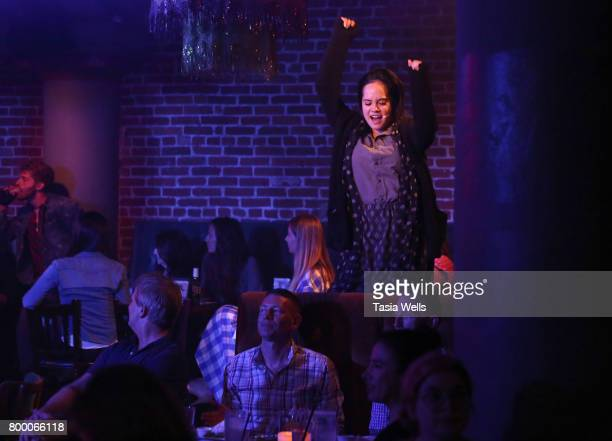 Actor Lana McKissack performs at The Fuse Project's Presentation of The Last Breakfast Club at Rockwell Table Stage on June 22 2017 in Los Angeles...