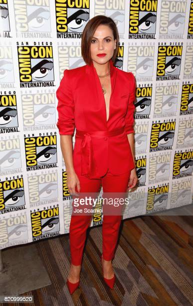 Actor Lana Parrilla at the 'Once Upon A Time' Press Line during ComicCon International 2017 at Hilton Bayfront on July 22 2017 in San Diego California