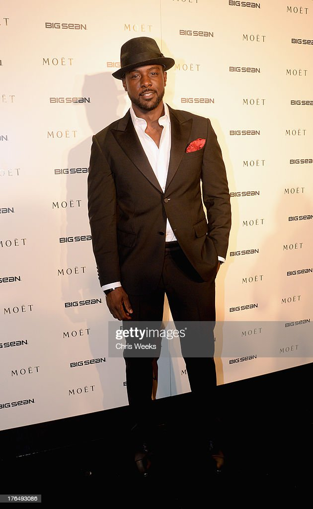 Actor Lance Gross attends Moet Rose Lounge Los Angeles hosted by Big Sean at The London West Hollywood on August 13, 2013 in West Hollywood, California.