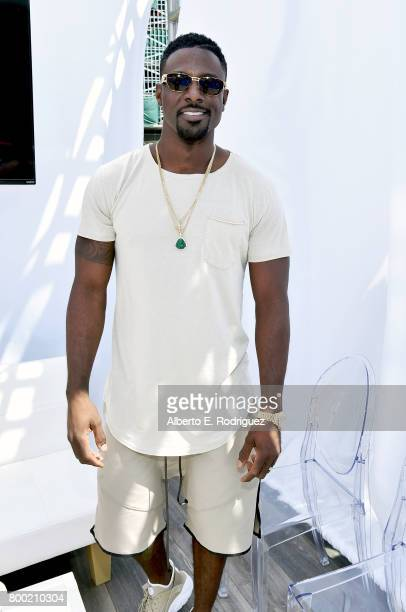 Actor Lance Gross poses at day one of the Pool Groove sponsored by McDonald's during the 2017 BET Experience at Gilbert Lindsey Plaza on June 23 2017...