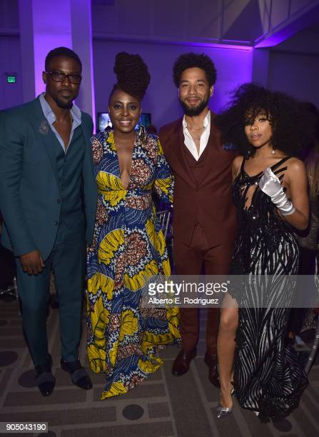 Actor Lance Gross singer Ledisi actor Jussie Smollett and Niatia 'Lil' Mama' Kirkland attend the 49th NAACP Image Awards NonTelevised Award Show at...
