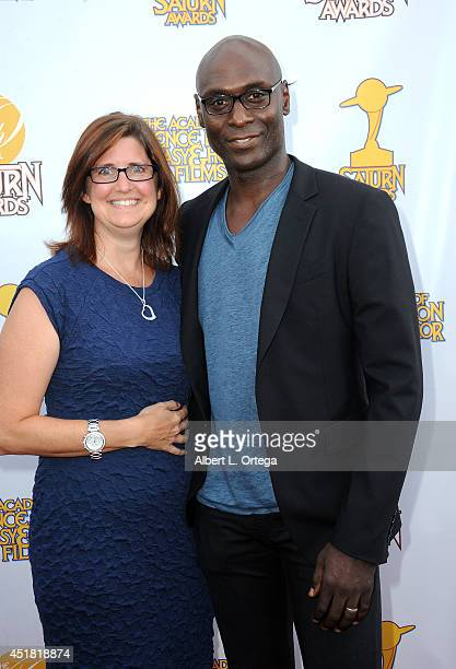 Actor Lance Red And Wife Stephanie Arrive For The 40th Annual Saturn Awards Held At