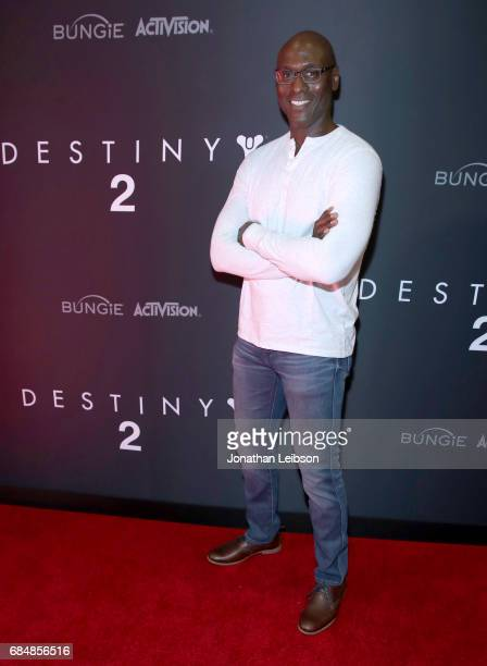 Actor Lance Reddick attends Activision And Bungie Celebrate The Gameplay World Premiere Of 'Destiny 2' at Jet Center Los Angeles on May 18, 2017 in...
