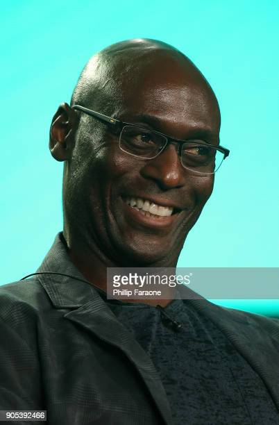 Actor Lance Reddick of 'Corporate' speaks onstage during the Comedy Central portion of the 2018 Winter TCA on January 15 2018 in Pasadena California
