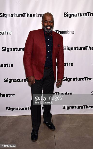 Actor Lance Roberts attends 'The Liquid Plane' Opening Night Party at Signature Theatre Company's The Pershing Square Signature Center on March 8...