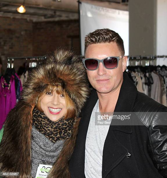 Actor Lane Garrison and a guest attend Eco Hideaway PARK CITY - 2014 Park City on January 20, 2014 in Park City, Utah.