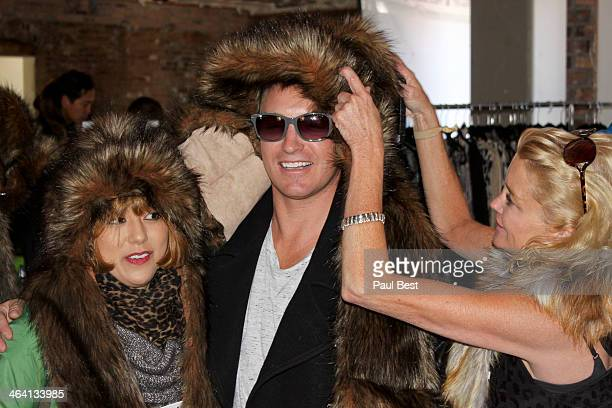 Actor Lane Garrison and guests attend Eco Hideaway PARK CITY - 2014 Park City on January 20, 2014 in Park City, Utah.
