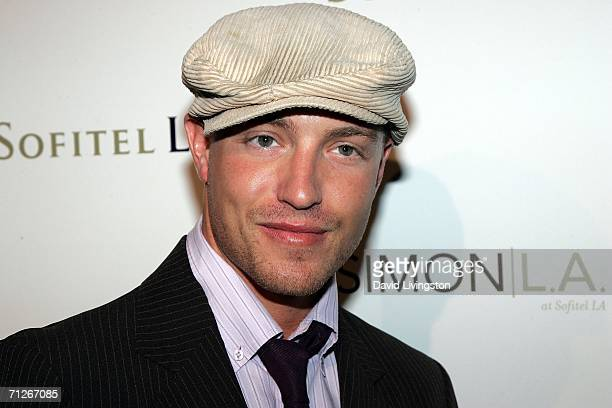 Actor Lane Garrison arrives at the Stone Rose Lounge and Simon LA preview at the newly renovated Sofitel LA Hotel on June 21 2006 in Los Angeles...