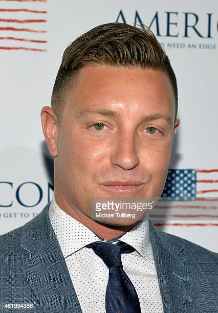 Actor Lane Garrison attends a screening of the film Americons at ArcLight Cinemas on January 22 2015 in Hollywood California