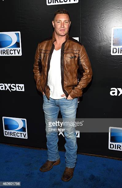 Actor Lane Garrison attends DirecTV Super Saturday Night hosted by Mark Cuban's AXS TV and Pro Football Hall of Famer Michael Strahan at Pendergast...