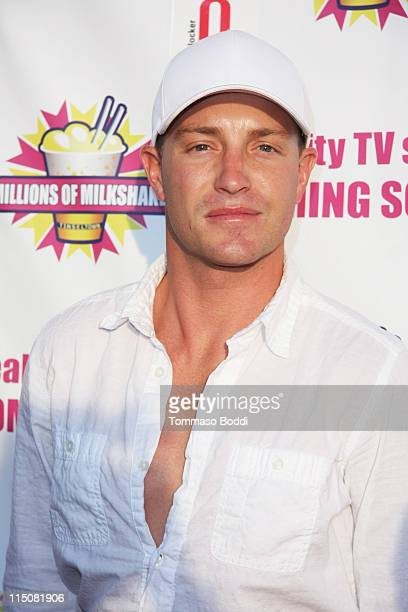 Actor Lane Garrison attends the Kim Lee Launches Her Milkshake At Millions Of Milkshakes West Hollywood on June 2 2011 in West Hollywood California
