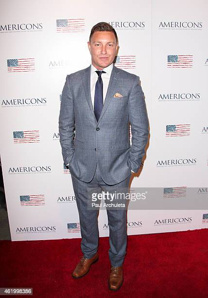 Actor Lane Garrison attends the screening of Americons at ArcLight Cinemas on January 22 2015 in Hollywood California