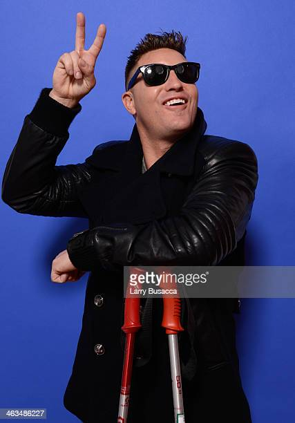 Actor Lane Garrison poses for a portrait during the 2014 Sundance Film Festival at the Getty Images Portrait Studio at the Village At The Lift...