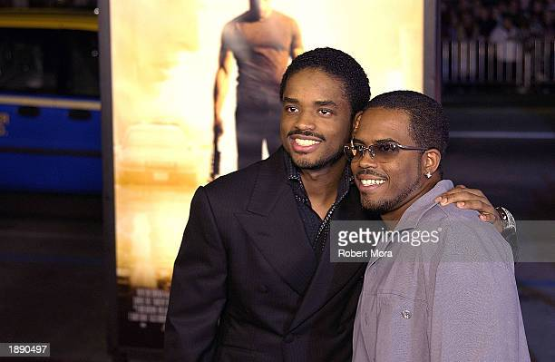Actor Larenz Tate and brother Larron attend the premiere of A Man Apart at Mann's Chinese Theatre on April 1 2003 in Hollywood California The film...