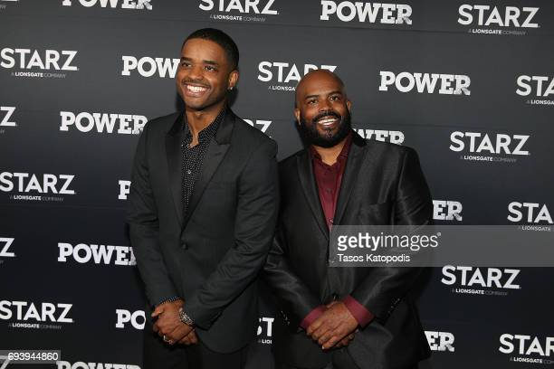 Actor Larenz Tate and Lahmard Tate attend the STARZ Original series Power Season Four Premiere at The Newseum on June 8 2017 in Washington DC