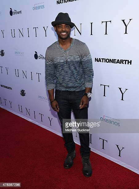 Actor Larenz Tate attends the world premiere of UNITY at the DGA Theater on June 24 2015 in Los Angeles California