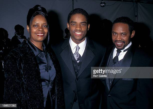Actor Larenz Tate mother Peggy Tate and father Larry Tate attending 29th Annual NAACP Image Awards on February 14 1998 at the Pasadena Civic...