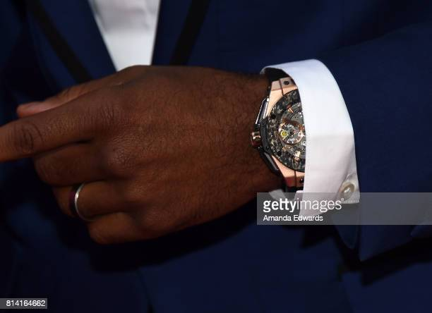 Actor Larenz Tate watch detail arrives at the premiere of Universal Pictures' 'Girls Trip' at the Regal LA Live Stadium 14 on July 13 2017 in Los...
