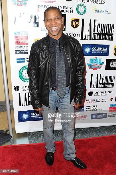 Actor Larry B Scott arrives at the 10th Annual LA Femme International Film Festival Closing Night Awards Ceremony at LA Film School on October 19...