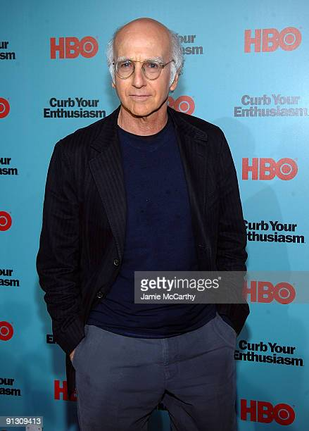 Actor Larry David attends the Curb Your Enthusiasm Season 7 New York screening at the Time Warner Screening Room on September 30 2009 in New York City