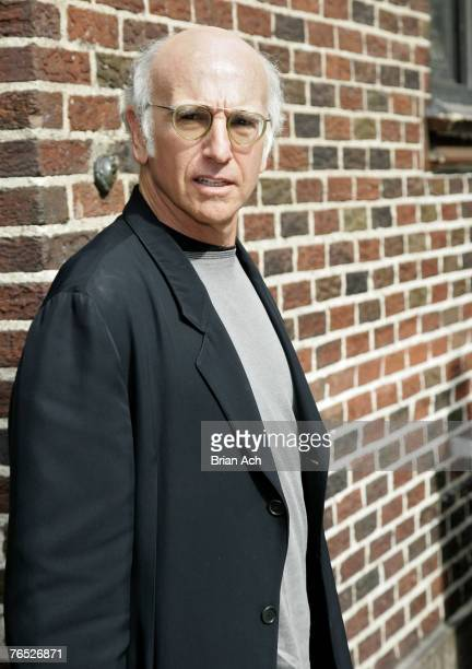 Actor Larry David visits The Late Show with David Letterman at the Ed Sullivan Theatre on September 5 2007 in New York City