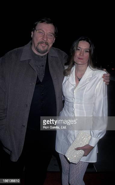 Actor Larry Drake and date attending 'From Dusk Till Dawn' on January 17 1996 at the Cinerama Dome Theater in Hollywood California