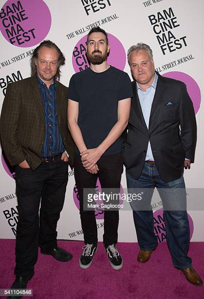 "Actor Larry Fessenden, Filmmaker Ti West, and Tommy Nohilly attend the BAMcinemaFest 2016 ""In A Valley Of Violence"" premiere at BAM Harvey Theater on..."