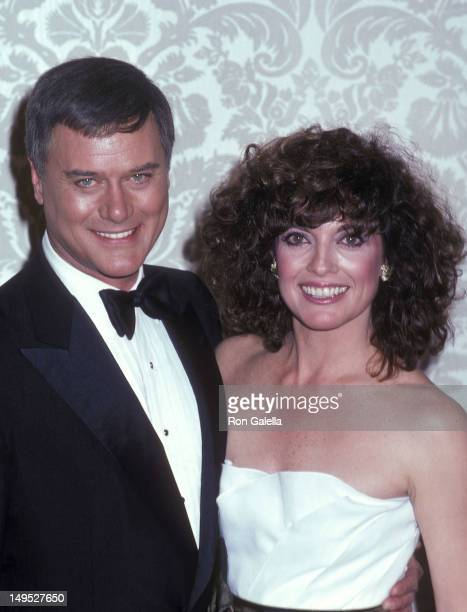 Actor Larry Hagman and actress Linda Gray attend the 38th Annual Golden Globe Awards on January 31 1981 at the Beverly Hilton Hotel in Beverly Hills...